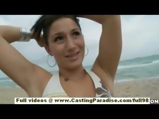 Sasha adorable teen girlfriend with big ass and natural tits having fun on...