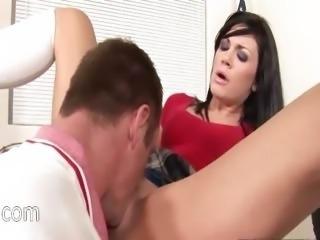 sleek brunette fucking and facesitting