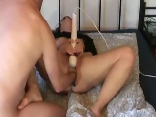 Fisting my wifes cunt as she masturbates