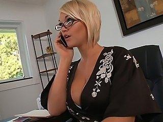 Blonde busty Mrs. Julies