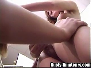 Busty Kira and Holly on lesbian scenes