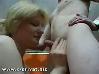 Russian mature woman fucked... Russian mature woman fucked hard from young ...
