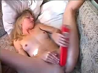 Very hot blond inserts different objects on a boat.  very sexy very hot is a...