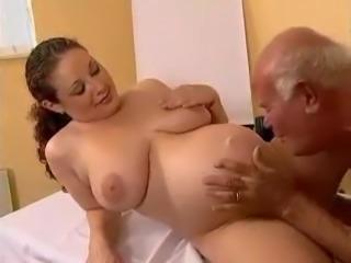 Old guy fucks a pregnant girl