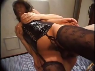 Her hairy Japanese pussy gets some much needed hard cock injections