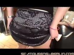 German mistress pees in her sla ... free