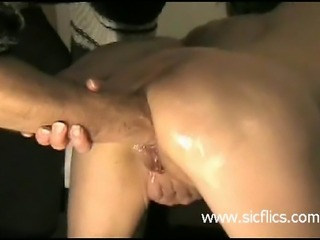 These amateur sluts need a hard fist fucking in their gaping assholes to...