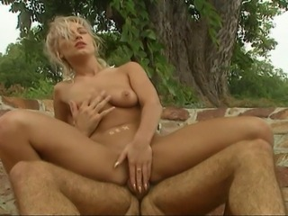 Steamy threesome featuring a horny blonde getting double penetrated by two...