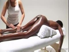 very hot! white girl massaging  ... free
