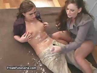 Horny teacher jerking her female part1