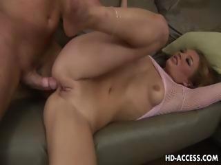 Sweet Ashley Gracie riding cock like crazy!