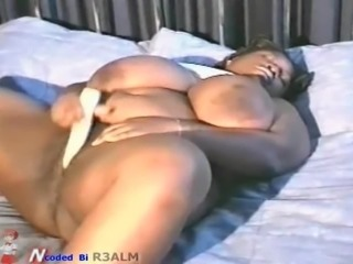 Rare video hard to find bbw huge tits masturbates to orgasm her only video