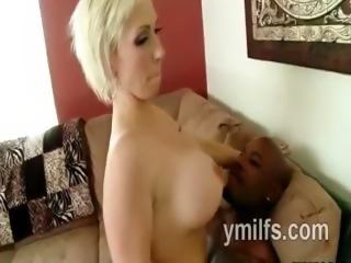 Absolutely gorgeous blonde MILF whore Kasey Grant gets fucked by big black man