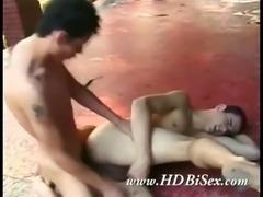 Bizare Bisexual foursome fuck