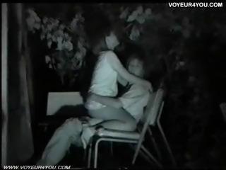 Public bench midnight love affair