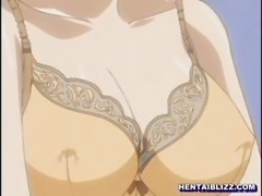 Lingeries office anime girl fingering wetpussy