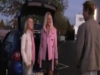 Two German BabeS Fucked On Car Parking  german ggg spritzen goo girls