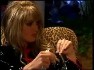 Blonde fucking 2 black dicks