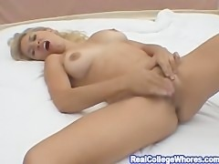 Blonde Hottie Solo Masturbation