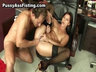 Horny whore gets her gaping asshole part3