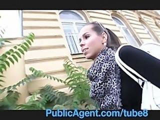 PublicAgent Hot brunette gets fucked in my car