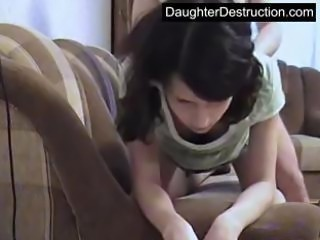 Young teen fucked hard in her mouth and pussy