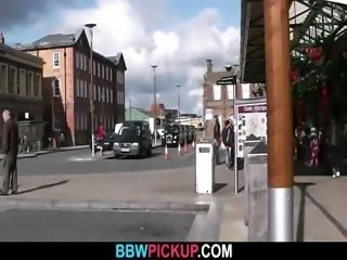 BBW tourist is dicked in the public restroom