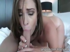 Big butt brunette girlfriend anal try out in doggystyle