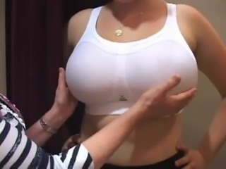 bra fitter grope big boobs girl ... free