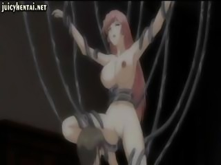 Anime gets penetrated by tentacles