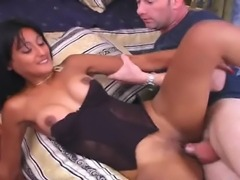 This brunette babe has a great appetite for big meaty cock. She gives head...