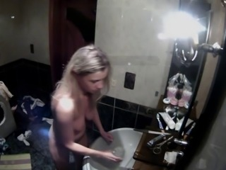 Blonde girl and her boyfriend fuck on hidden cam (Part 2)
