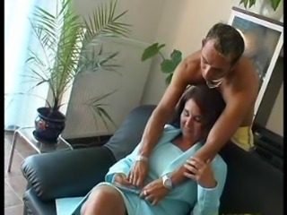 SEXY MOM 61 redhead mature with a young man