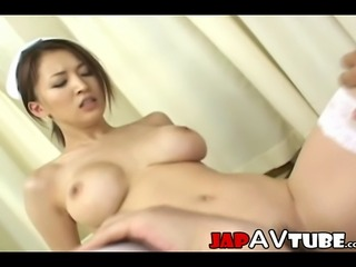 sexy busty japanese nurse get fucked by her patient