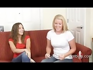 Amber and Ashley play Strip RockPaperScissors