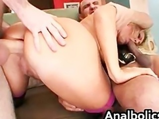 Big ass blonde milf gets her ass fucked