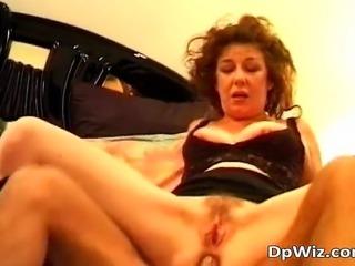 Brunette MILF receives numb pecker