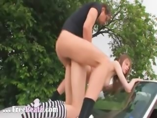 21yo russian girl fucked on the car