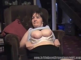 British milf gets her panties fucked for cash...