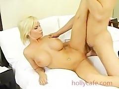 Stud Fucks A Busty Blonde Milf Ass