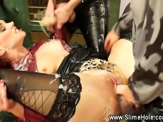 A group of kinky glamorous lesbians love it hard and rough
