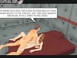 3D virtual girl takes sex classes