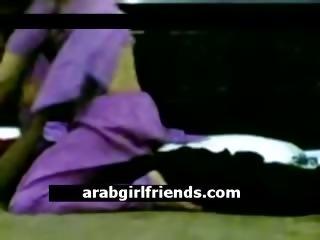 Horny amateur Arabian couple go naughty in homemade