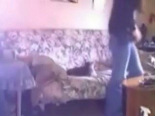 My cute mum caught masturbating in living room. Hidden cam