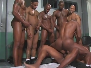 Gay Interracial Double Anal Penetration