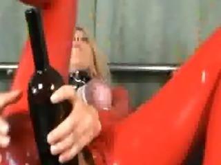 Huge wine bottle fucking extreme amateur slut