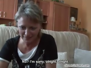Horny mature mom sucking dick for some part1