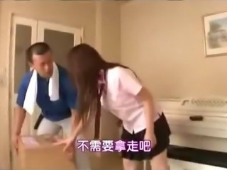 Schoolgirl Rapped By The Delivery Guy Getting Her Mouth Fucked Fingered In...