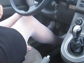 Drive home from work in skirt