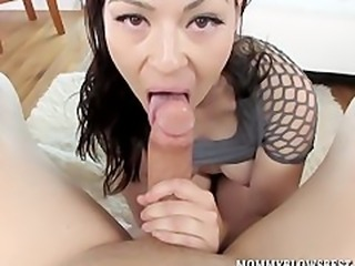 Exotic MILF Angelica Blew is a mom who sucks a lot